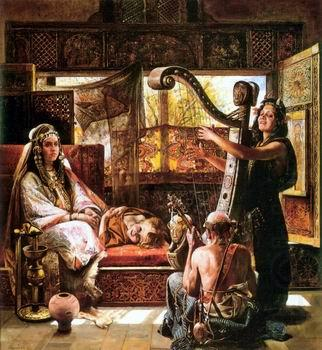 Arab or Arabic people and life. Orientalism oil paintings  530, unknow artist