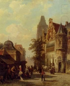 European city landscape, street landsacpe, construction, frontstore, building and architecture. 276, unknow artist