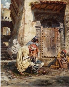 Arab or Arabic people and life. Orientalism oil paintings 444, unknow artist