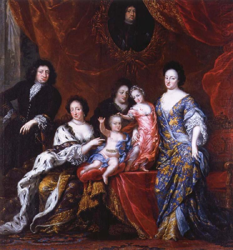 Grupportratt of Fellow XI with family, David Klocker Ehrenstrahl