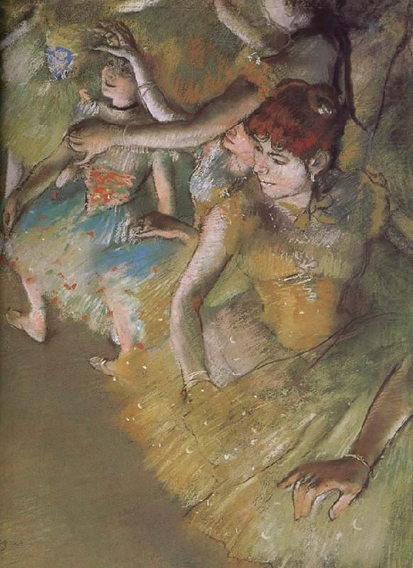 ballerina  on the stage, Edgar Degas