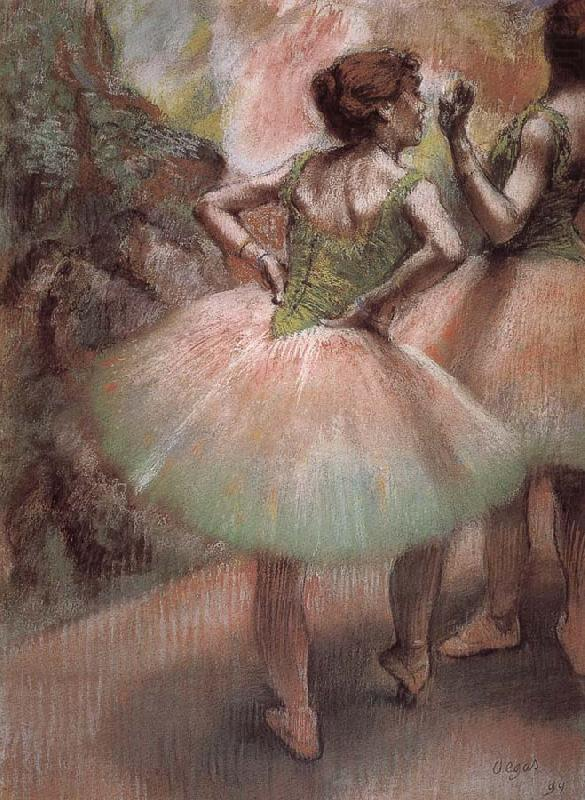 Pink and green, Edgar Degas
