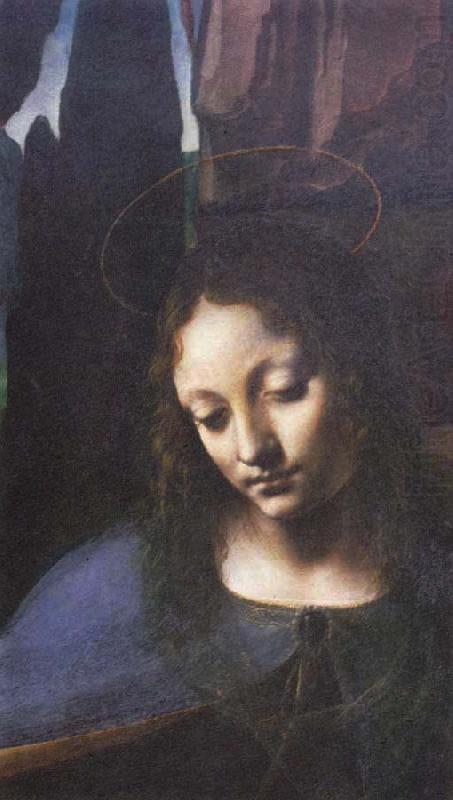 madonna of rocks. Detail of Madonna of the Rocks