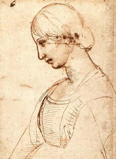 Waist-length Figure of a Young Woman, RAFFAELLO Sanzio