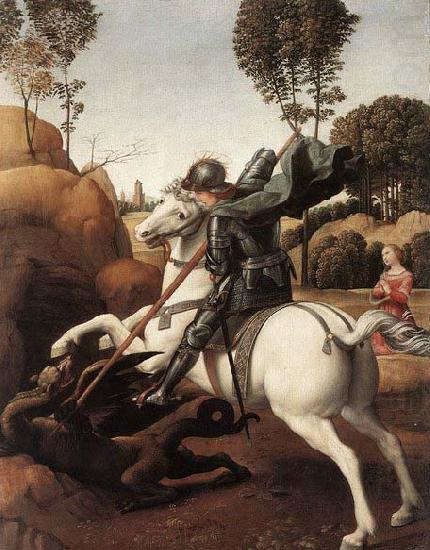 RAFFAELLO Sanzio St George and the Dragon