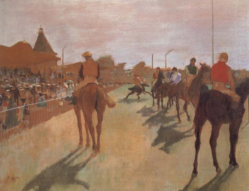 Race Horses in Front of the Stand, Edgar Degas