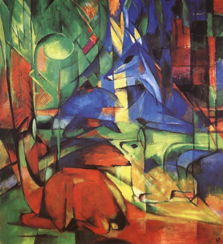 Radjur in the forest II, Franz Marc