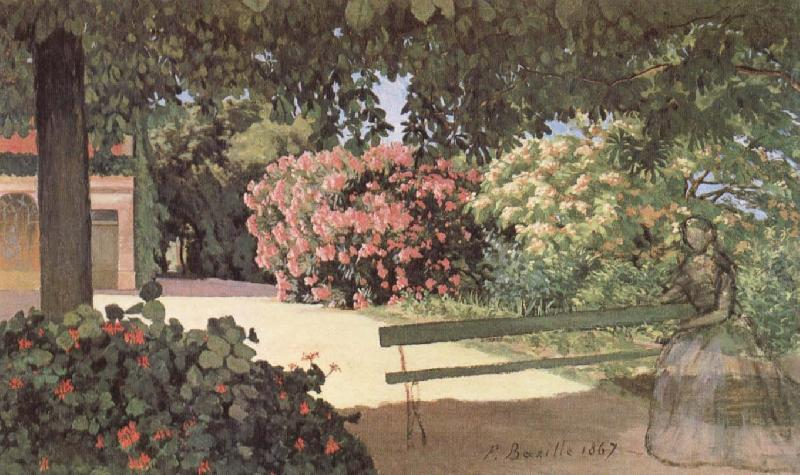 The Terrace at Meric, Frederic Bazille