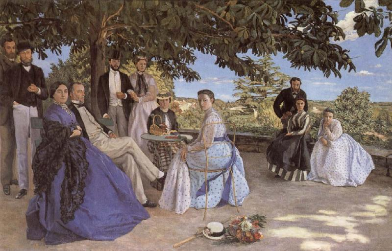 Family Reunion, Frederic Bazille
