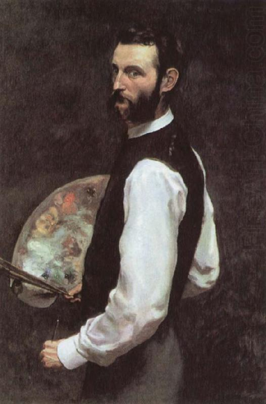 Self-Portrait with Palette, Frederic Bazille