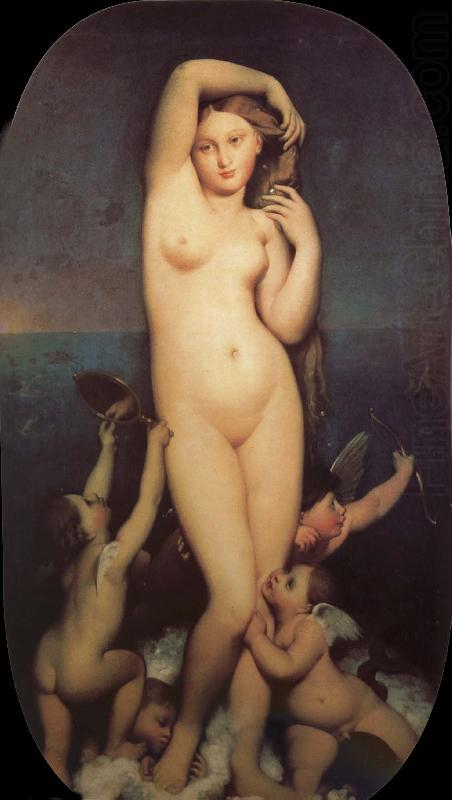 Love and beautiful goddess, Jean-Auguste Dominique Ingres