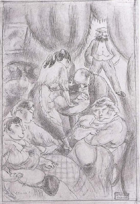Wait for meeting, Jules Pascin