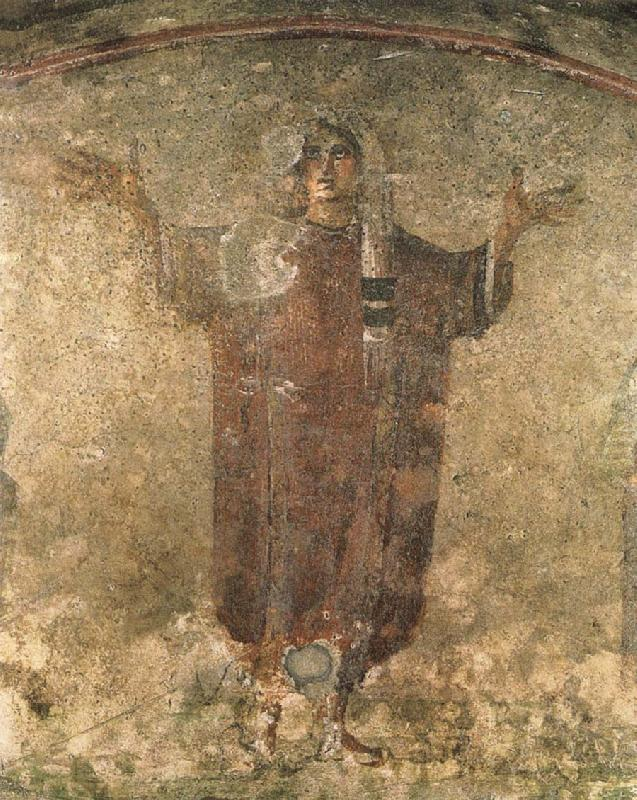 Vaggmalning from Roman catacombs, unknow artist