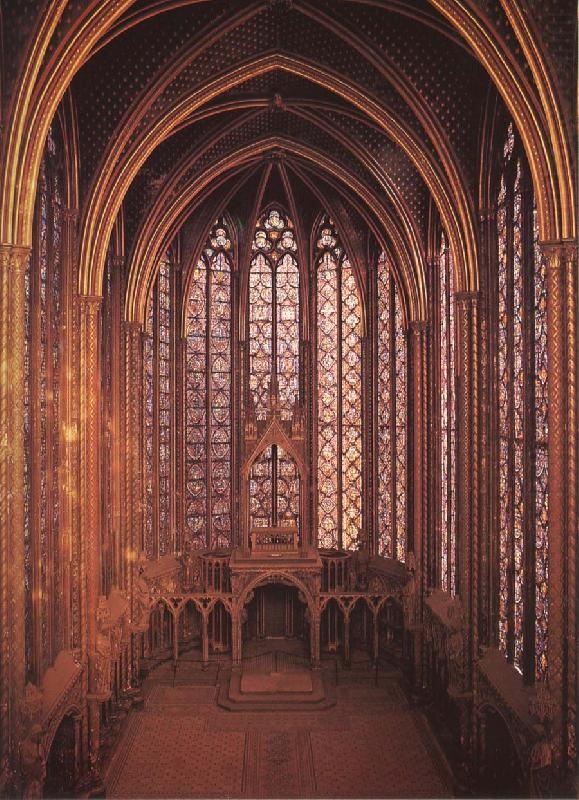 Interior from Sainte-Chapelle, unknow artist