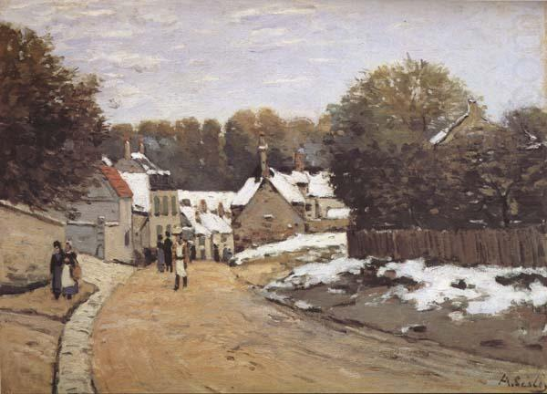 Early Snow at Louveciennes, Alfred Sisley