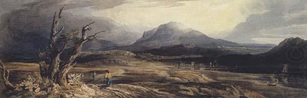 Cader ldris from Barmouth Sands (mk47), Anthony Vandyck Copley Fielding