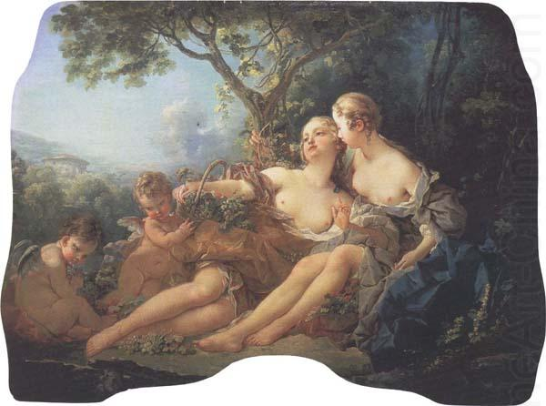 Bacchus and Erigone:Autumn, Francois Boucher