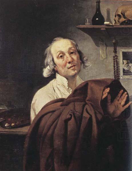 Self Portrait As A Monk Johann Zoffany Wholesale Oil