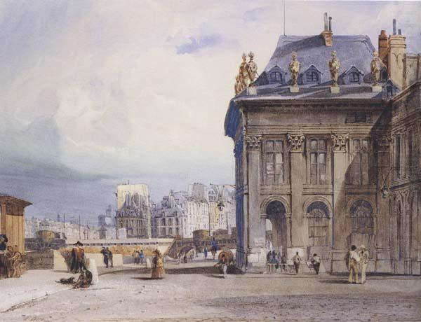 L lle de la Cite seen from the Institut,Paris (mk47), Thomas Shotter Boys