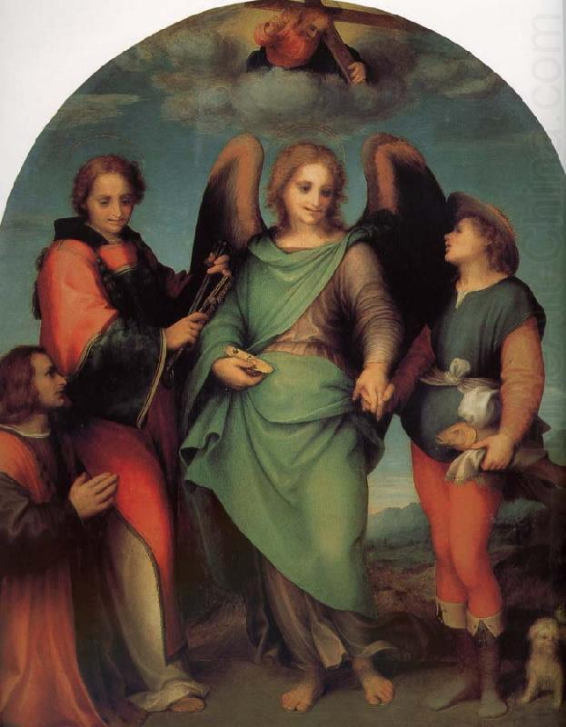 Rafael Angel of Latter-day Saints and the great Leonard, with donor, Andrea del Sarto