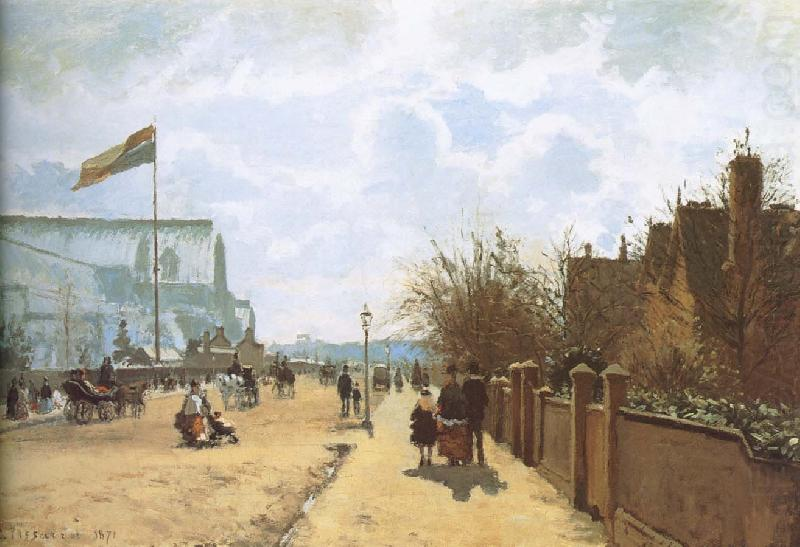 Small hill to see Crystal Palace, Camille Pissarro