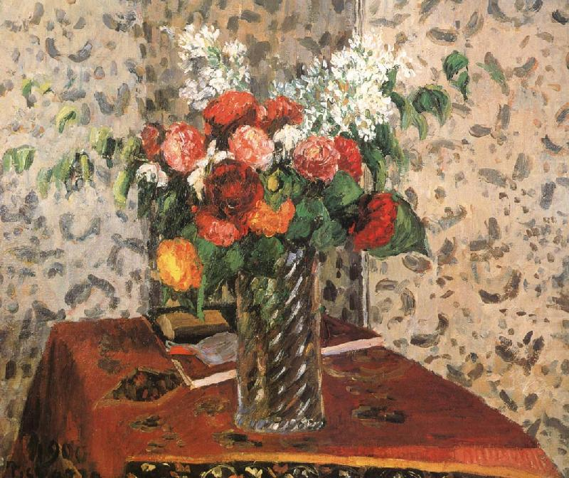 Table flowers, Camille Pissarro