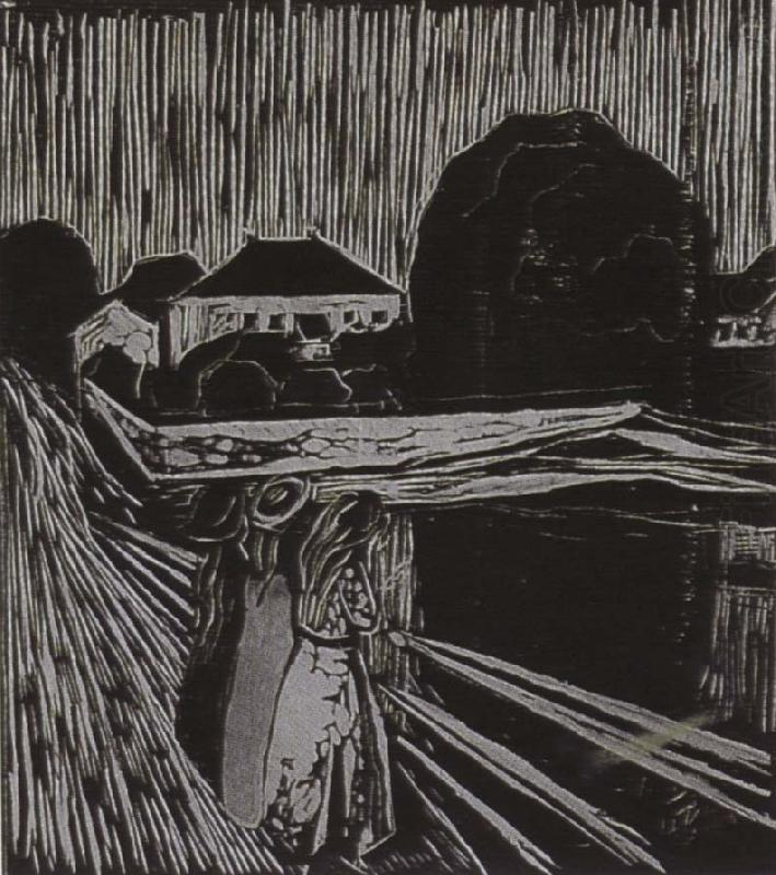 Edvard Munch Girl on the bridge
