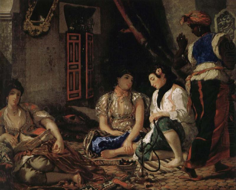 Women of Algiers in the room, Eugene Delacroix