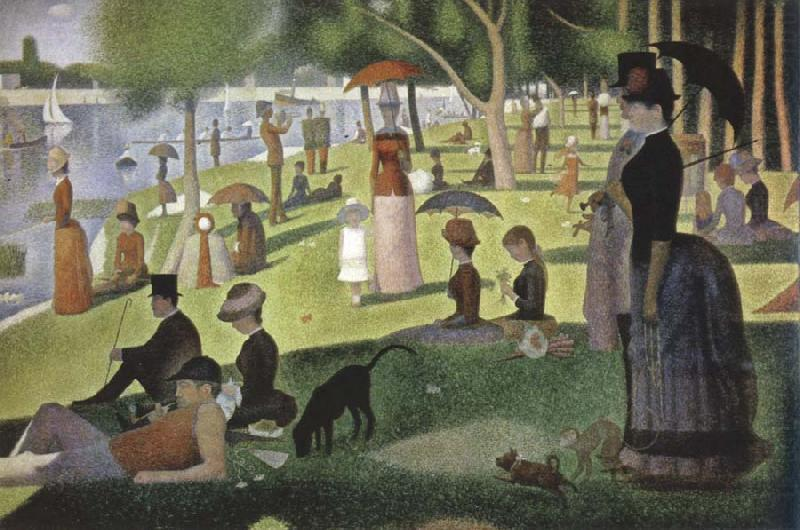 a sunday on la grande jatte 1884 Georges Seurat Wholesale