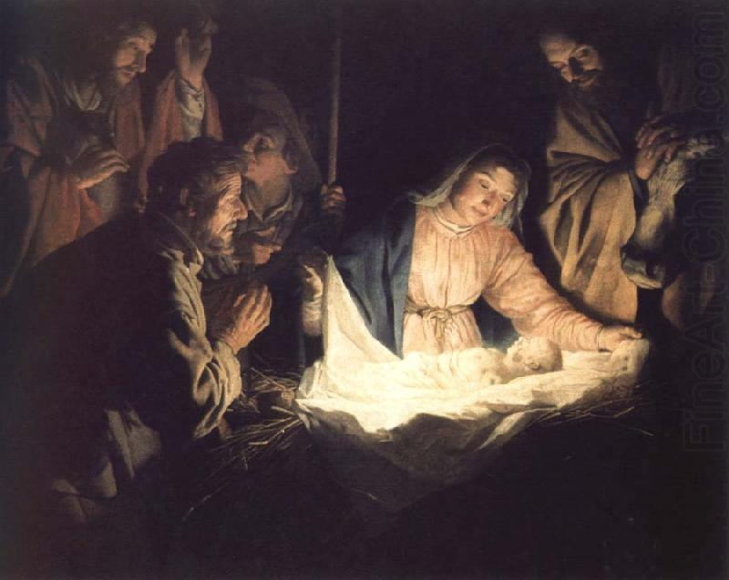 Gerrit van Honthorst adoration of the shepherds