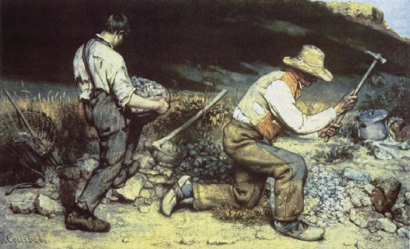 Quarrying, Gustave Courbet