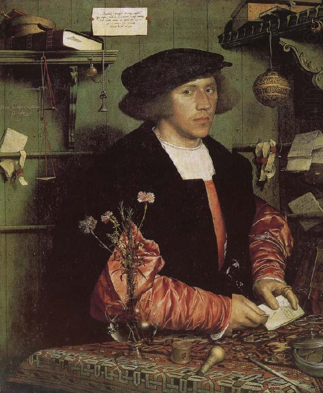 Qiao Zhiji portrait of businessman Serge, Hans Holbein