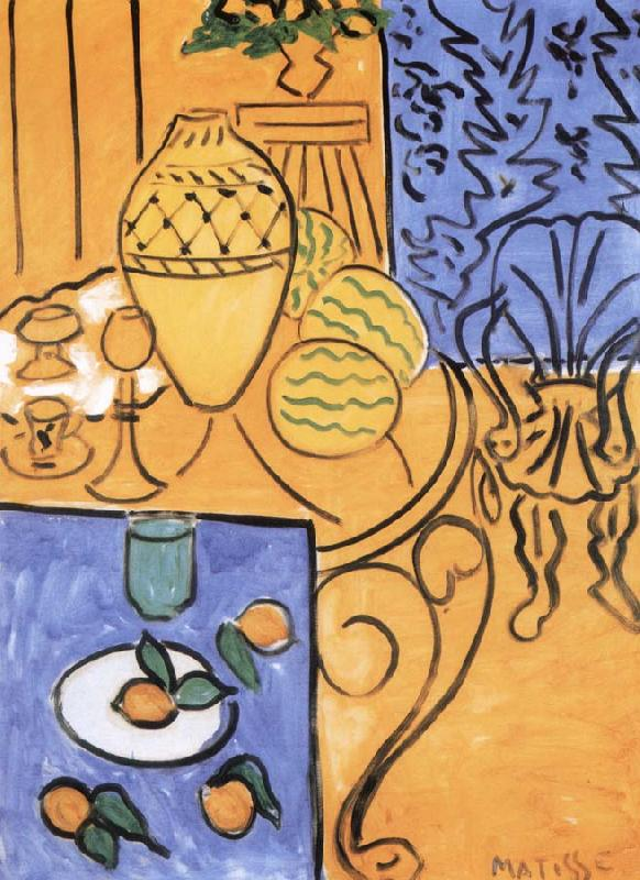 Yellow and blue, Henri Matisse