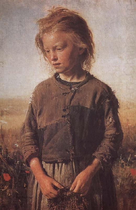 Poor little girl Uygur Li, Ilia Efimovich Repin