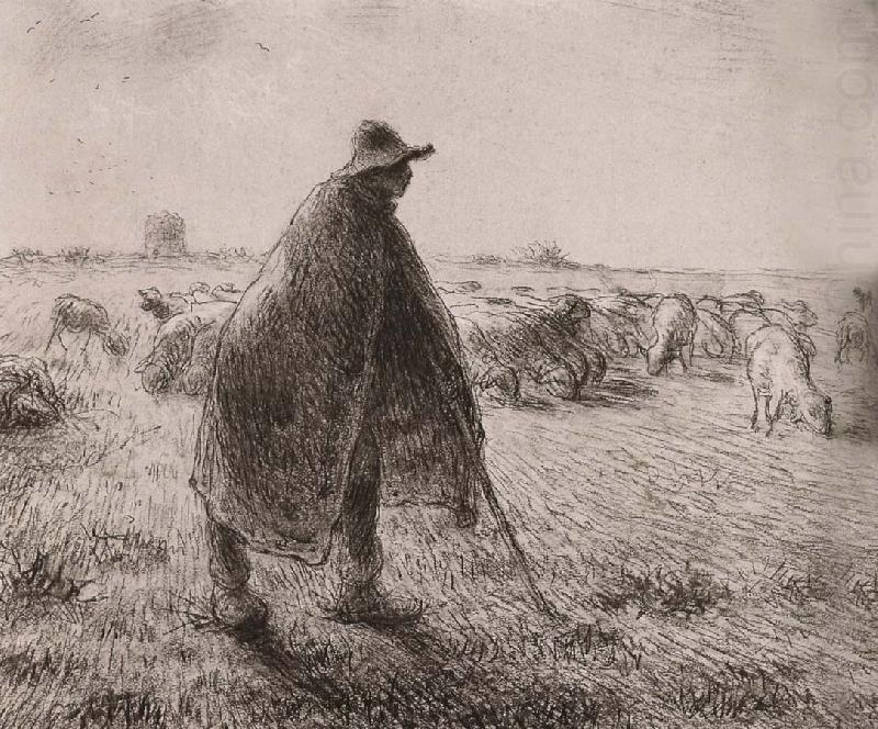 Jean Francois Millet Shepherden in the field
