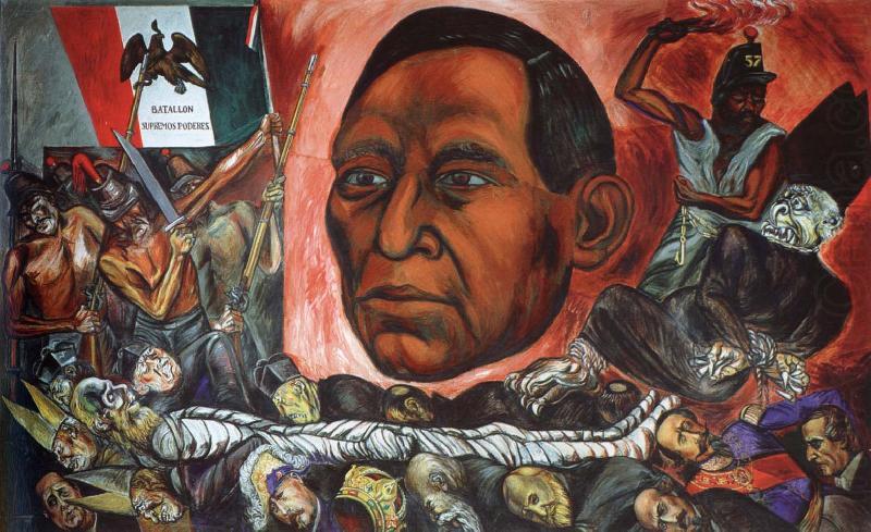 Jose clemente orozco mexican revolution murals www for Benito juarez mural