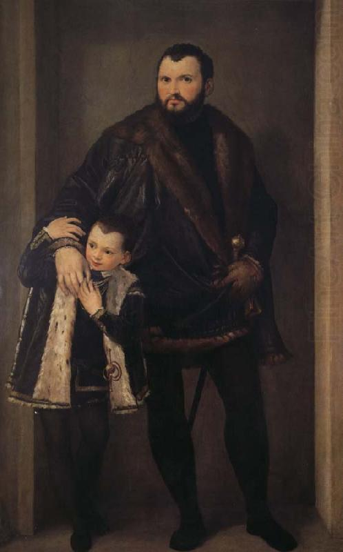Reaches the Pohl to hold with his son Yadeliyanuo portrait, Paolo  Veronese