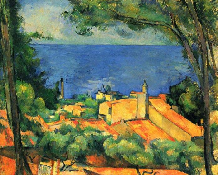 L Estaque, Paul Cezanne