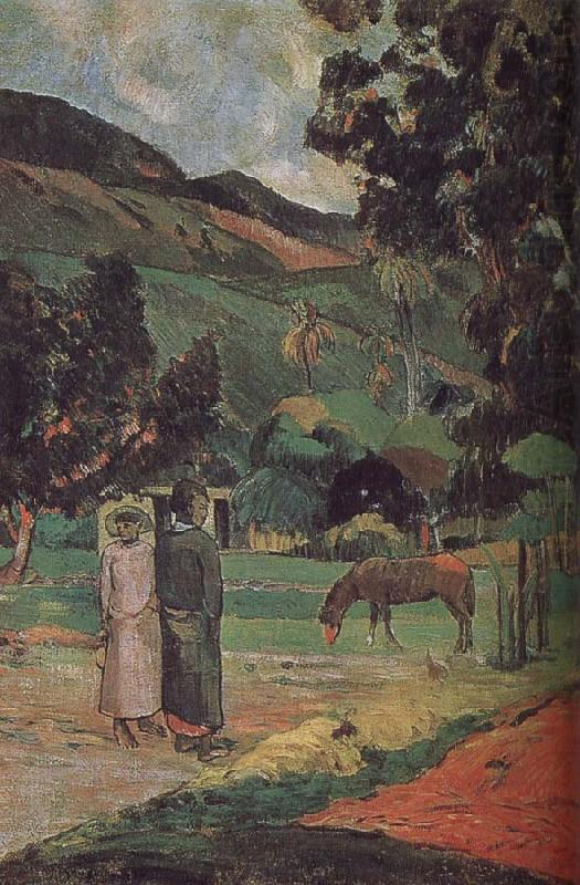 Ma and scenery, Paul Gauguin