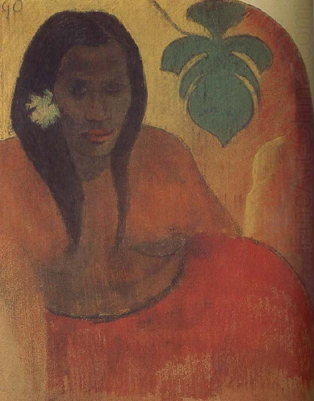Tahitian woman, Paul Gauguin
