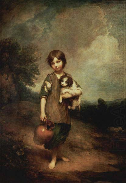 Cottage Girl With Dog And Pitcher Thomas Gainsborough