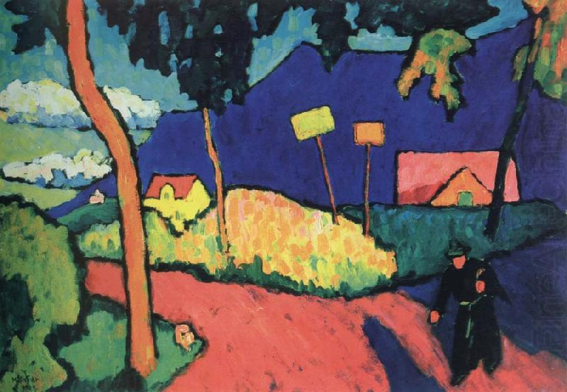 Gabriele Munter Painting In Kallmunz Wassily Kandinsky | Oil