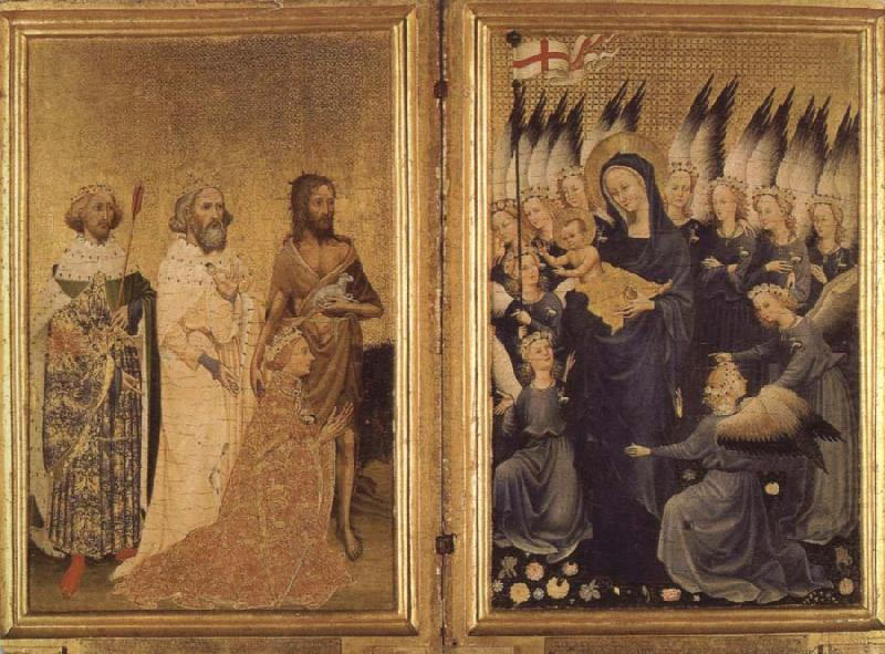 the wilton diptych, unknow artist