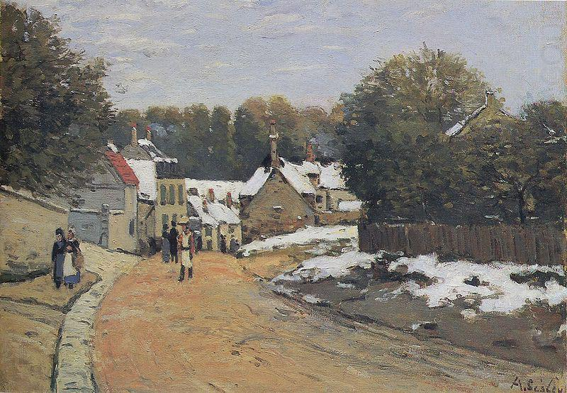 Early Snow at Louveciennes,, Alfred Sisley
