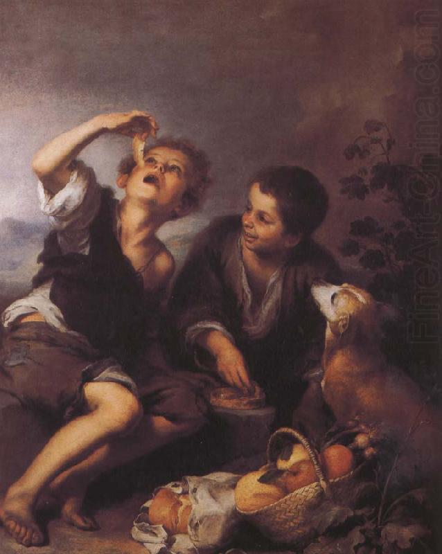 Bartolome Esteban Murillo Children to eat dessert