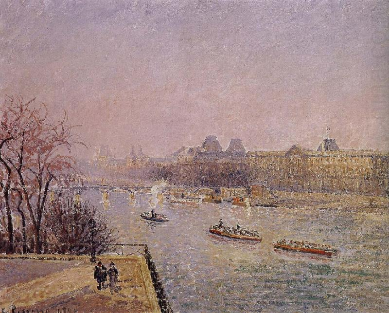 early in the Louvre, Camille Pissarro