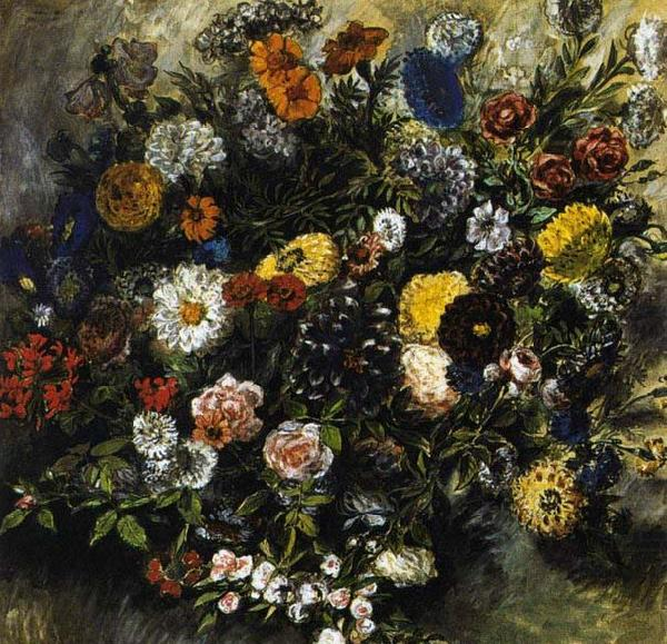Bouquet of Flowers, Eugene Delacroix