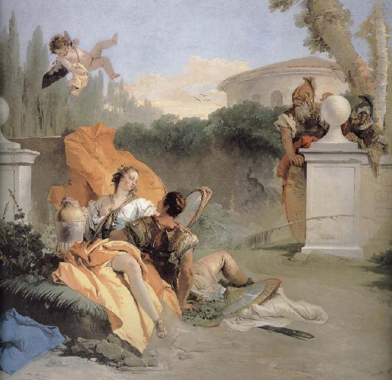 NA ER where more and Amida in the garden, Giovanni Battista Tiepolo
