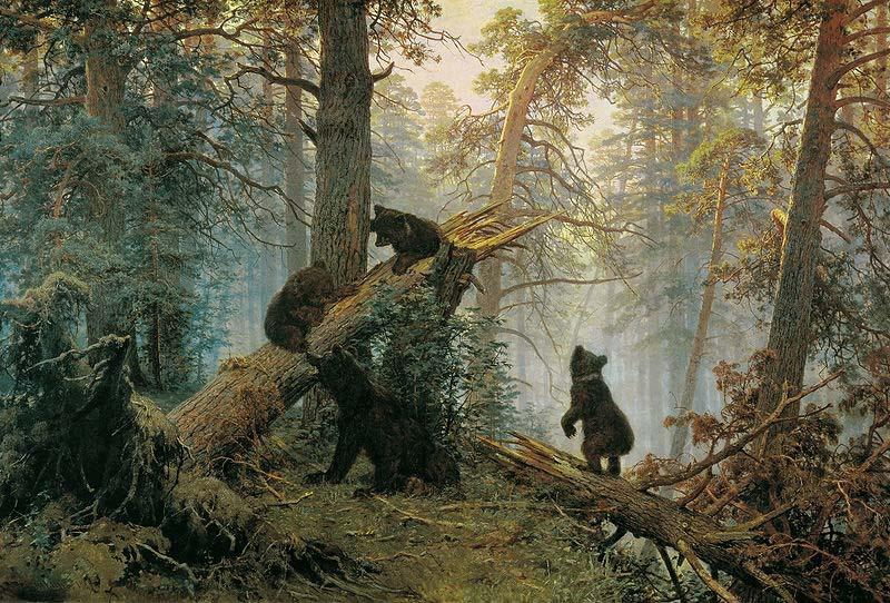 Morning in a Pine Forest, Ivan Shishkin