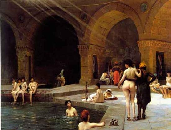 Harem baths, Jean-Leon Gerome
